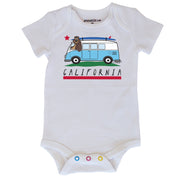 California Flag Bus Baby Bodysuit