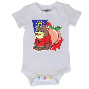 Georgia Bull Dog Baby Bodysuit