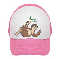 Tree Sloth Kids Trucker Hat
