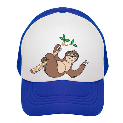 Boy Sloth in a Tree Kids Trucker Hat