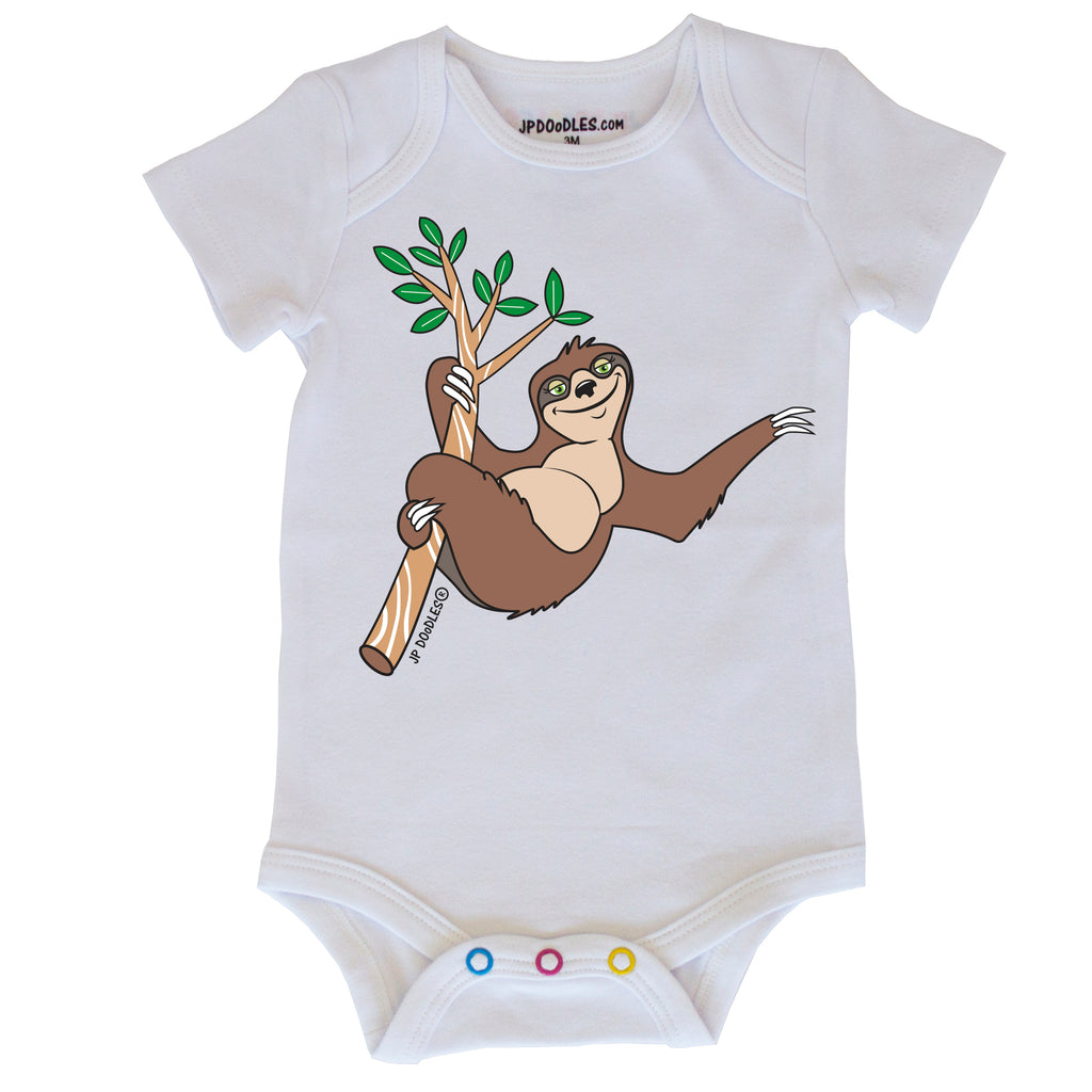Tree Sloth Baby Bodysuit