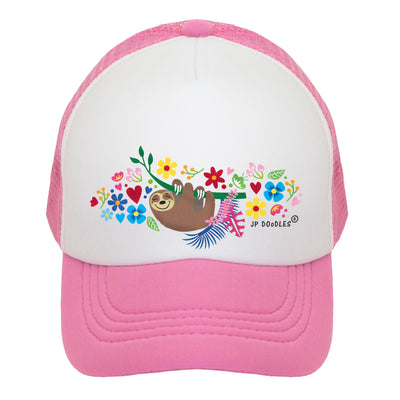 Sloth Baby Infant Toddler Kids Trucker Hat
