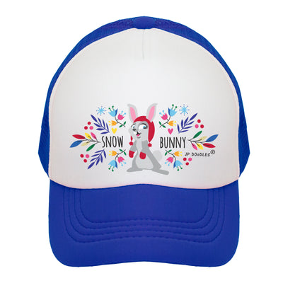 Snow Bunny on Toddler Kids Trucker Hat