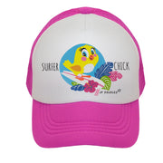 Surfer Chick Baby Toddler Kids Trucker