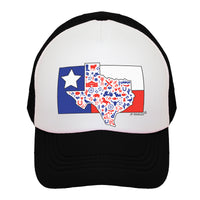 Texas State Flag Kids Trucker Hat