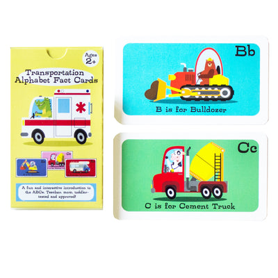 Transportation Alphabet Fact Cards