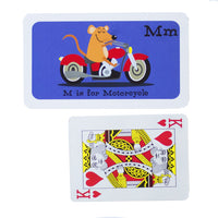 Transportation Alphabet Fact Cards Size