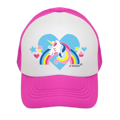 JP DOoDLES Llama Love on Kids Trucker Hat Toddler and Youth Sizes. Available in Baby
