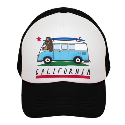 VW Bus California Bear Kids Trucker Hat
