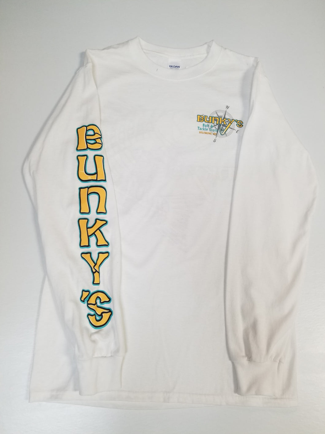 Bunky's Long Sleeve Fish Bones Logo