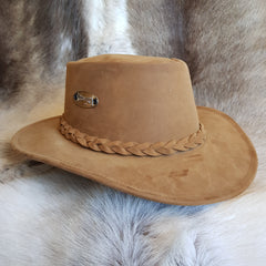 Viking leather bush hat before waxing