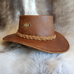 Viking leather hat after waxing