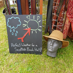 Perfect Bush Hat weather sign