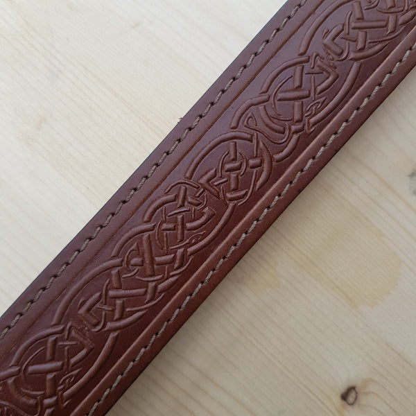 Close up of pattern on belt