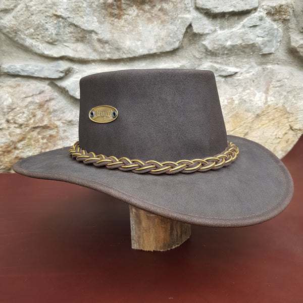 Tayburry leather hat mustard band