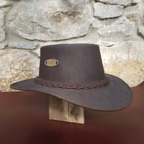 Tayburry leather hat plain band