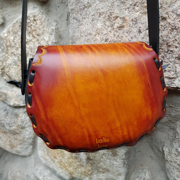 Reversed of leather handbag