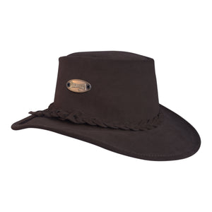 Brown Suede Bush Hat