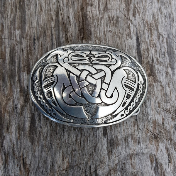 Two dragons belt buckle