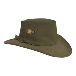 Green Suede Bush Hat