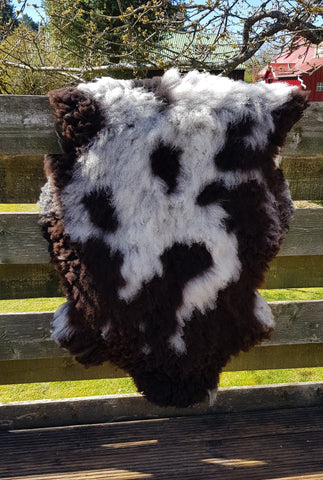 Rough patchy sheepskin