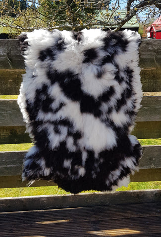 Black and White sheepskin