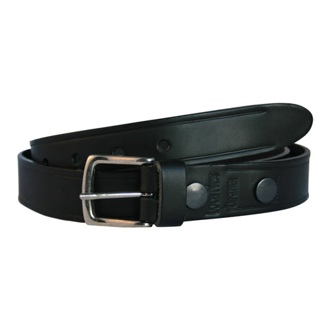 Black Narrow Leather Belt