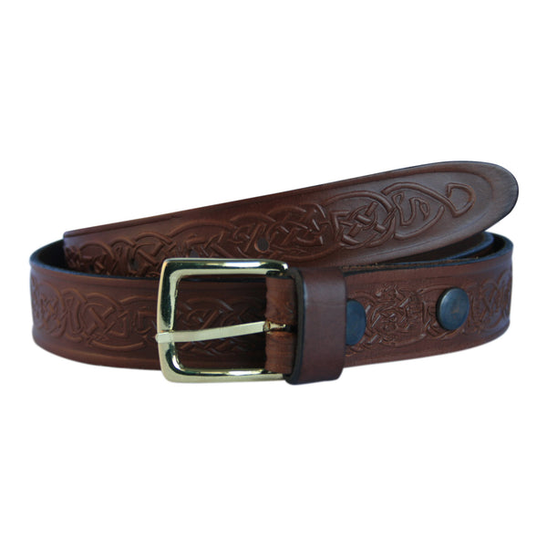 Narrow Celtic Design Belt