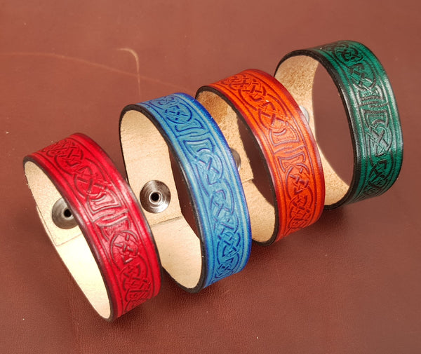 leather wristband in 4 colours