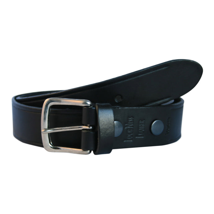 Wide Black Leather Belt