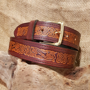 Wide Brown/Tan Celtic Dragon