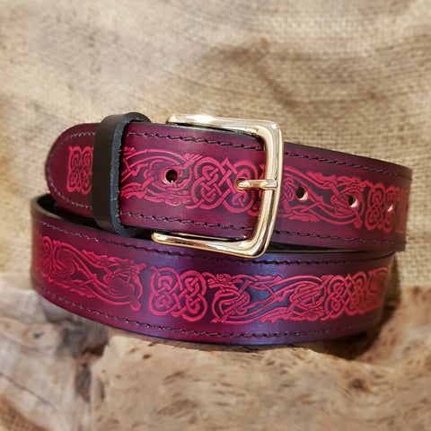 Wide Red Celtic Dragon