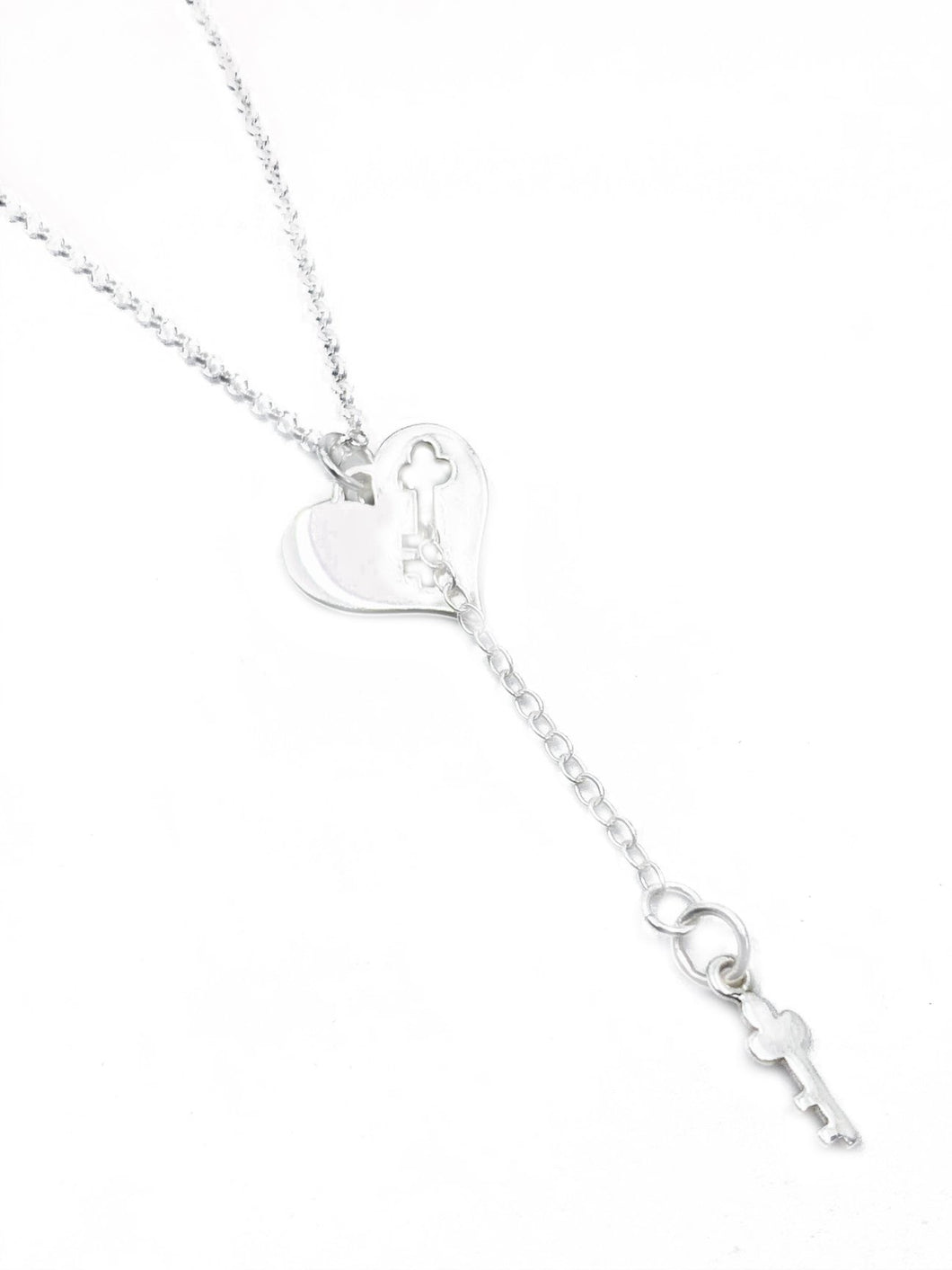 """Key to my heart"" - Sterling silver pendant chain"