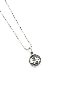The Air element - Sterling silver Charm Pendant chain