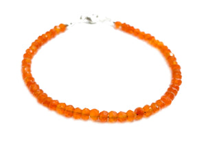 """The Cheerful bracelet"" - Hand cut Carnelian bracelet"