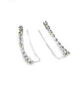 Sterling silver and Cubic Zirconia Curved Ear climbers