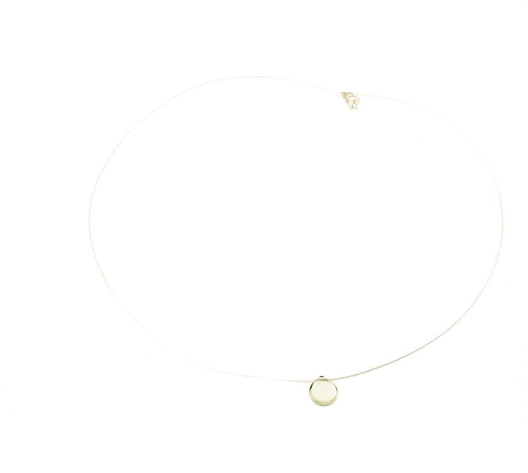 Green Amethyst illusion necklace