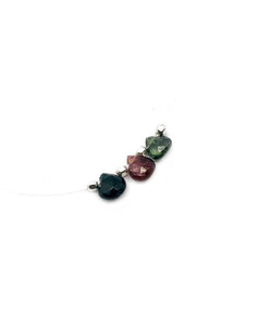 """Tourmaline drops"" - Minimalist tourmaline drops illusion necklace"