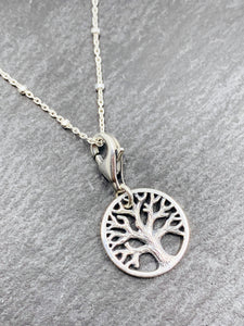 Sterling silver Oak tree/Tree of life charm Pendant chain