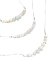 """The Rainbow Sparkle"" - Limited edition Premium Graduated ethiopian opal bead & sterling silver necklace"