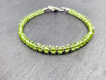 """The Lioness"" - Peridot and Sterling silver bracelet"