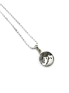 The Earth Element- Sterling silver Charm Pendant Chain
