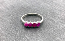 """The Ruby Ring"" - Sterling silver and Ruby ring - Size P 1/2"