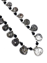 Black Rutile briolette bead necklace