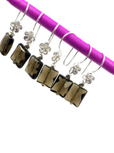 """Mon Parfum"" - Smoky quartz and Sterling silver bead earrings"