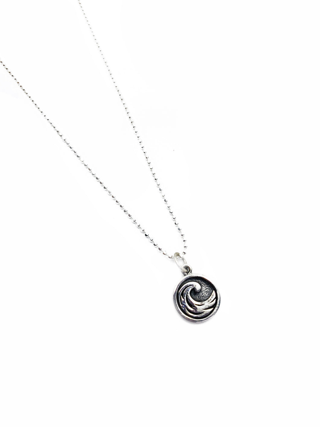 The Water Element - Sterling silver charm pendant chain