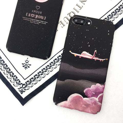 Lovely Aircraft Stars iPhone Case