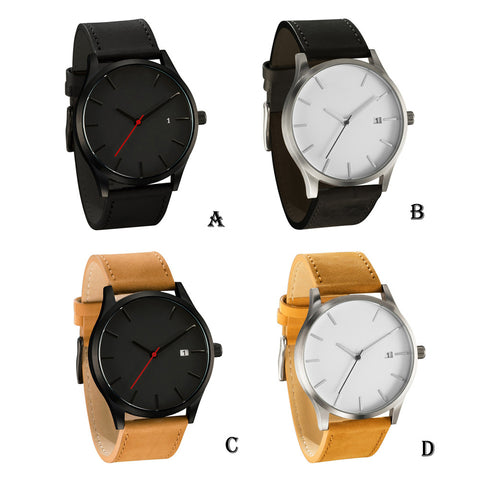 Casual Leather Quartz-Watch For Men