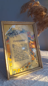Friendship framed floral poem