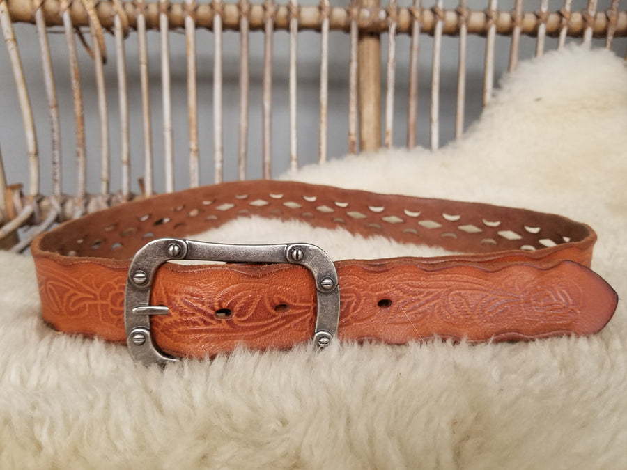 Dangerfield tan leather belt